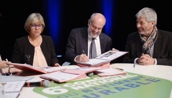 Signature du Plan Bâtiment Durable régional